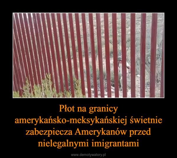 Płot na granicy amerykańsko-meksykańskiej świetnie zabezpiecza Amerykanów przed nielegalnymi imigrantami –