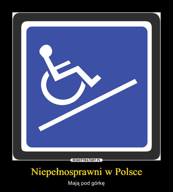 Niepełnosprawni w Polsce – Mają pod górkę