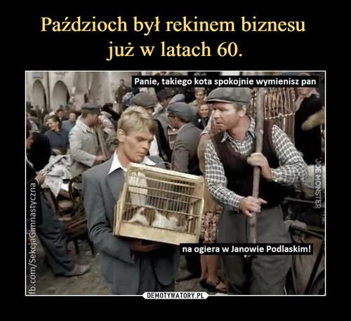 Paździoch był rekinem biznesu  już w latach 60.
