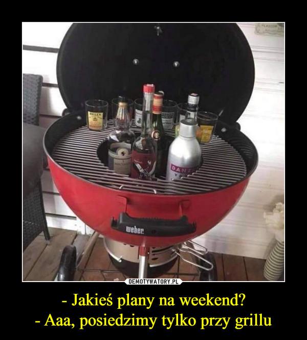 - Jakieś plany na weekend?- Aaa, posiedzimy tylko przy grillu –