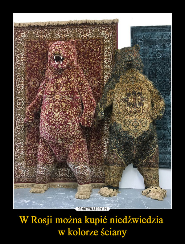 W Rosji można kupić niedźwiedzia w kolorze ściany –