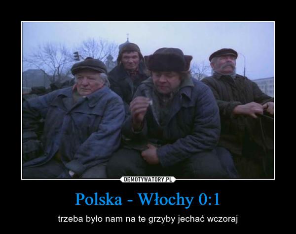 Polska - Włochy 0:1 – trzeba było nam na te grzyby jechać wczoraj