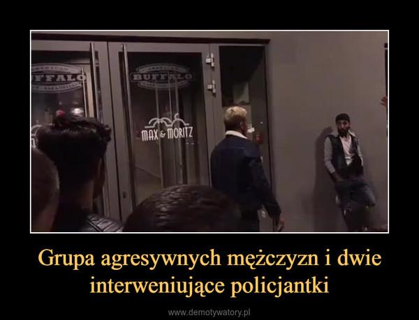 Grupa agresywnych mężczyzn i dwie interweniujące policjantki –