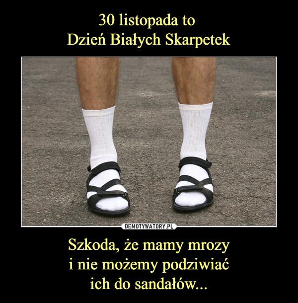 Szkoda, że mamy mrozyi nie możemy podziwiaćich do sandałów... –
