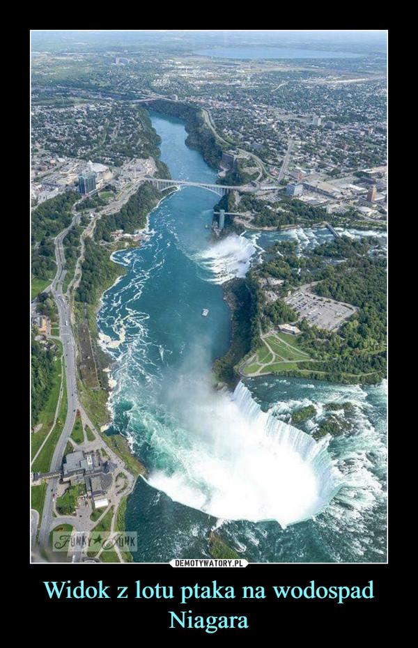 Widok z lotu ptaka na wodospad Niagara –