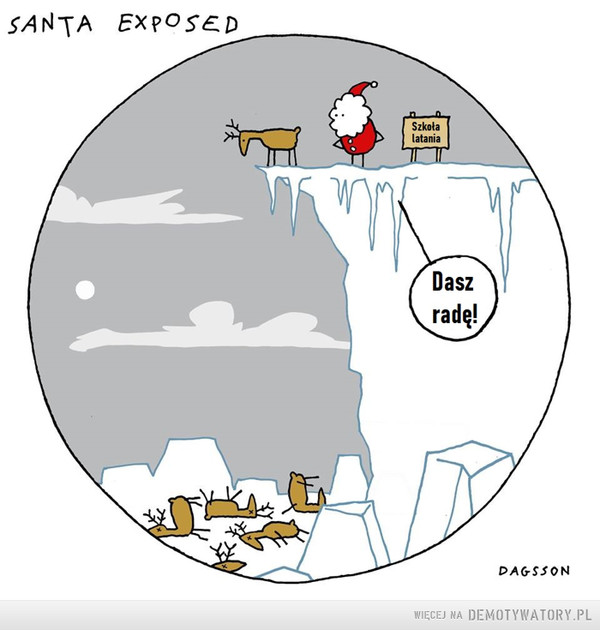 Przygotowania do świąt –  SANTA EXPOSEDSzkołalataniaDaszradę!DAGSSON