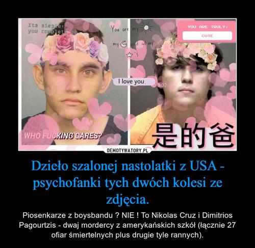 Dzieło szalonej nastolatki z USA - psychofanki tych dwóch kolesi ze zdjęcia.
