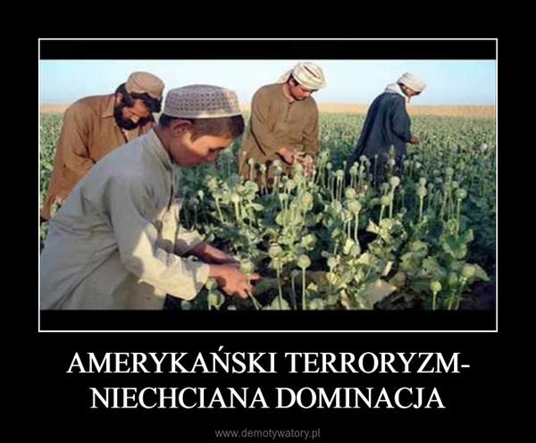 AMERYKAŃSKI TERRORYZM- NIECHCIANA DOMINACJA –