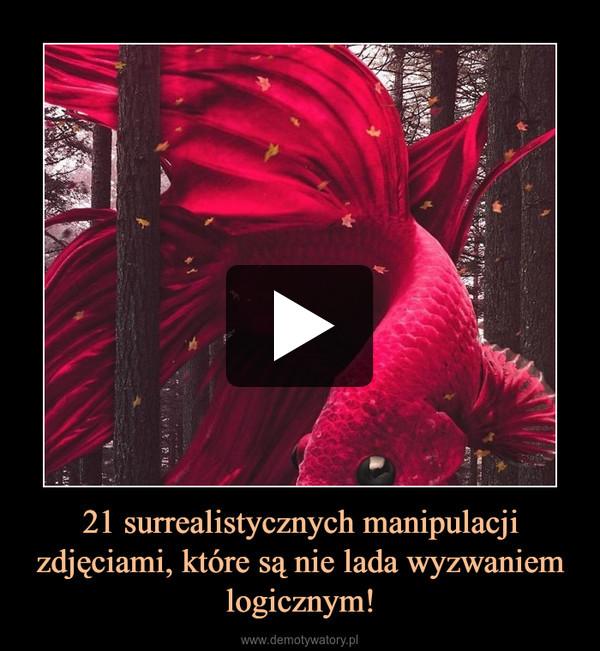 21 surrealistycznych manipulacji zdjęciami, które są nie lada wyzwaniem logicznym! –