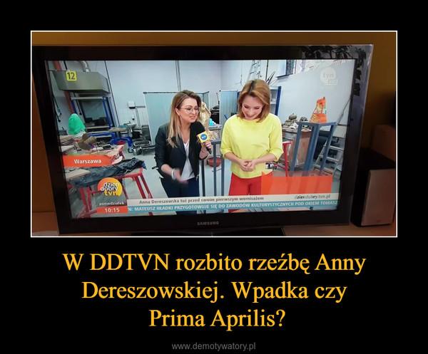 W DDTVN rozbito rzeźbę Anny Dereszowskiej. Wpadka czy Prima Aprilis? –