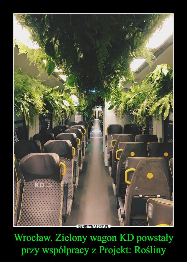Wrocław. Zielony wagon KD powstały przy współpracy z Projekt: Rośliny –