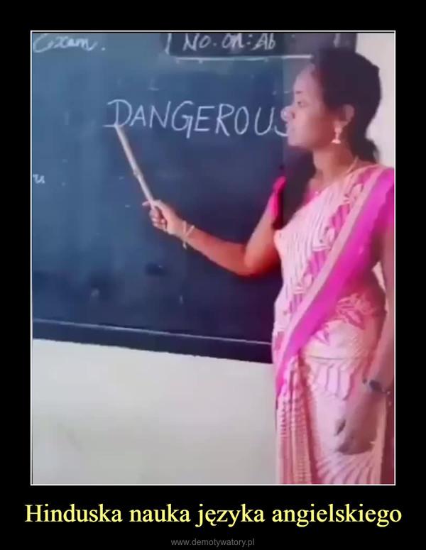 Hinduska nauka języka angielskiego –