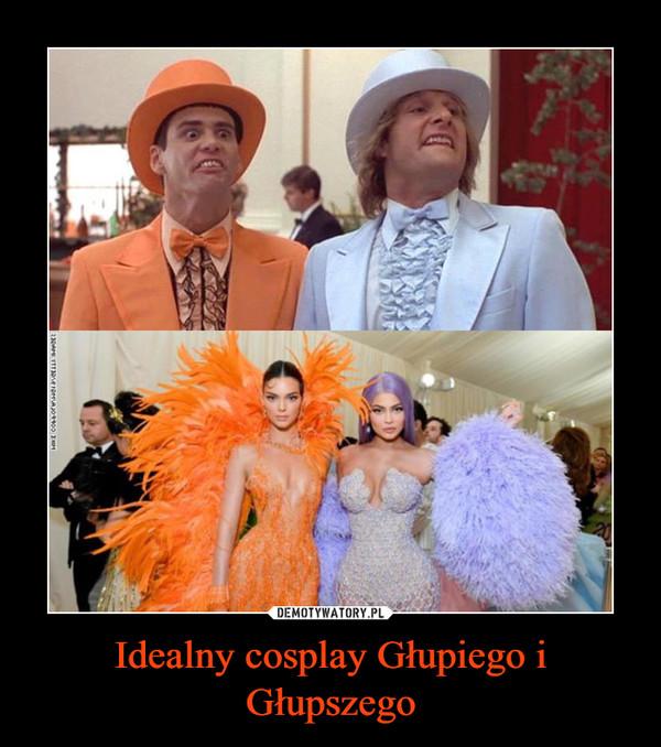 Idealny cosplay Głupiego i Głupszego –