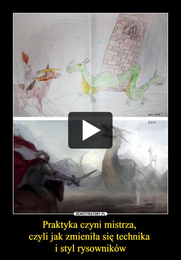 Praktyka czyni mistrza, czyli jak zmieniła się technika i styl rysowników –
