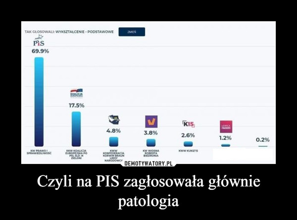 Czyli na PIS zagłosowała głównie patologia –