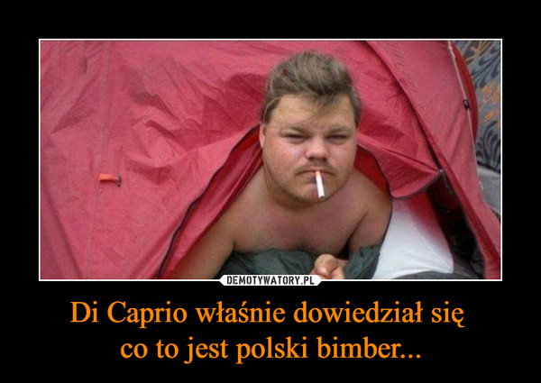 Di Caprio właśnie dowiedział się co to jest polski bimber... –