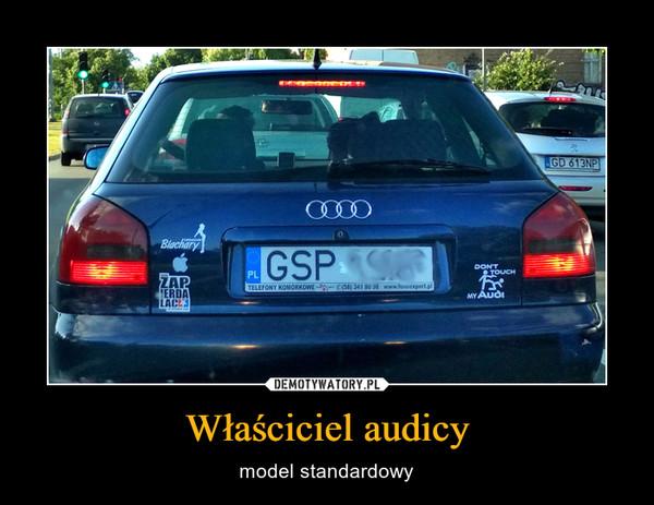 Właściciel audicy – model standardowy