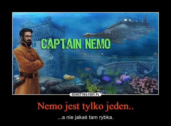 Nemo jest tylko jeden.. – ...a nie jakaś tam rybka.