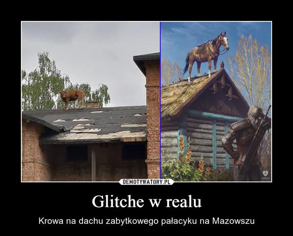 Glitche w realu – Krowa na dachu zabytkowego pałacyku na Mazowszu