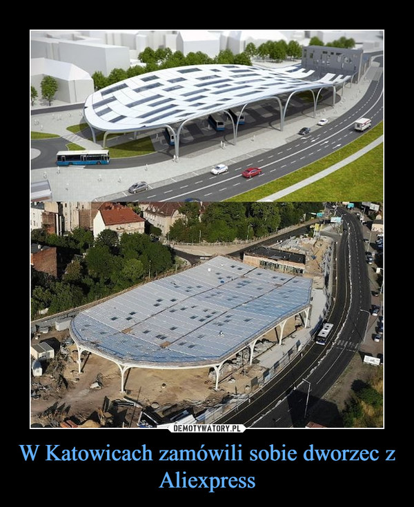 W Katowicach zamówili sobie dworzec z Aliexpress –