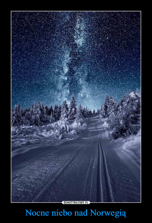 Nocne niebo nad Norwegią –
