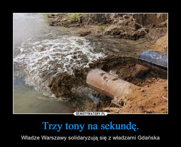 Trzy tony na sekundę. – Władze Warszawy solidaryzują się z władzami Gdańska