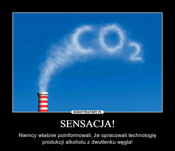 SENSACJA! – Niemcy właśnie poinformowali, że opracowali technologię produkcji alkoholu z dwutlenku węgla!