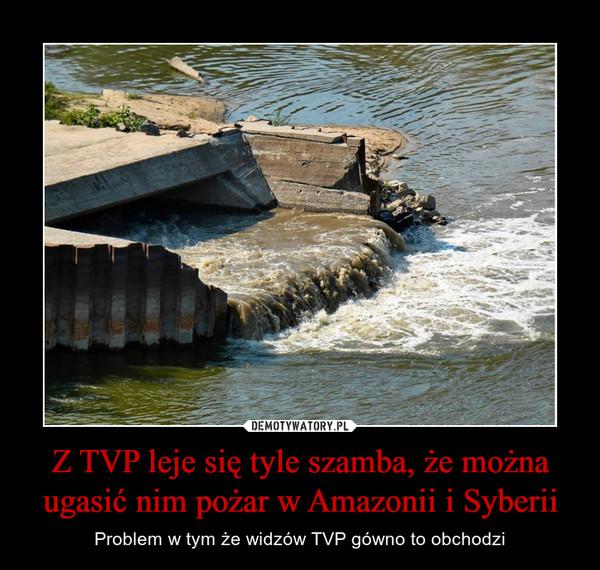 Z TVP leje się tyle szamba, że można ugasić nim pożar w Amazonii i Syberii – Problem w tym że widzów TVP gówno to obchodzi