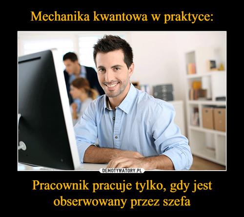 Mechanika kwantowa w praktyce: Pracownik pracuje tylko, gdy jest obserwowany przez szefa