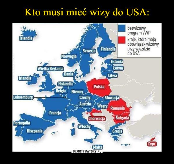 –  bezwizowyprogram VWPkraje, które maja,obowiązek wizowyprzy wjeździedo USA