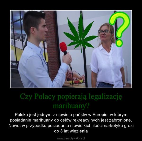 Czy Polacy popierają legalizację marihuany? – Polska jest jednym z niewielu państw w Europie, w którym posiadanie marihuany do celów rekreacyjnych jest zabronione. Nawet w przypadku posiadania niewielkich ilości narkotyku grozi do 3 lat więzienia