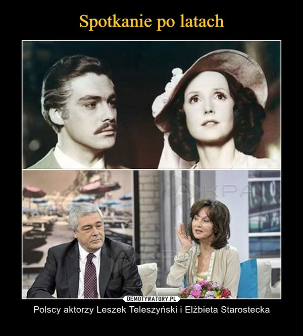 – Polscy aktorzy Leszek Teleszyński i Elżbieta Starostecka