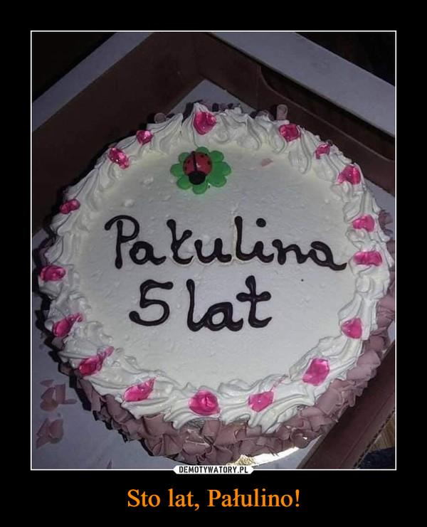 Sto lat, Pałulino! –  Pałulina 5 lat