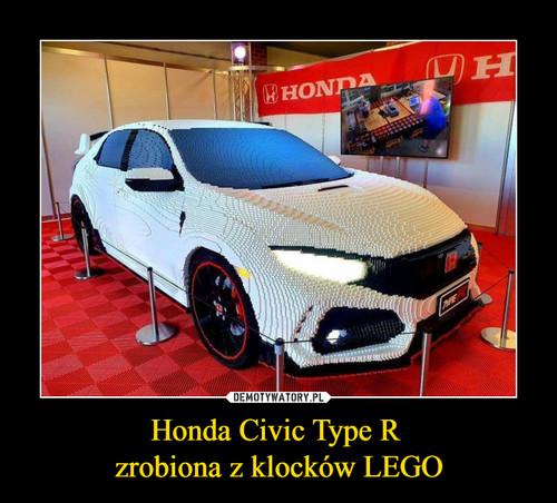 Honda Civic Type R  zrobiona z klocków LEGO