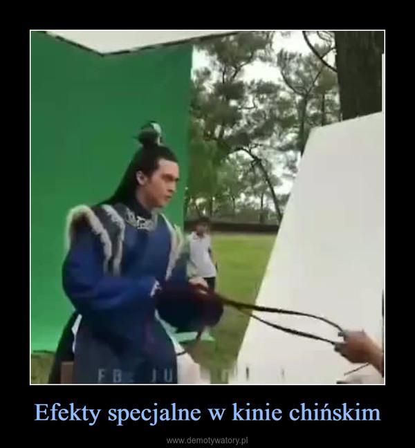 Efekty specjalne w kinie chińskim –