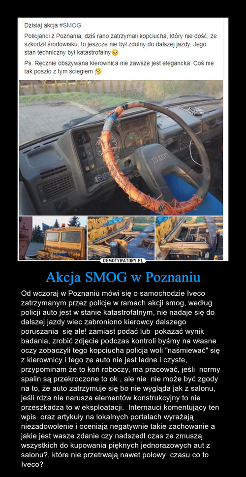 Akcja SMOG w Poznaniu