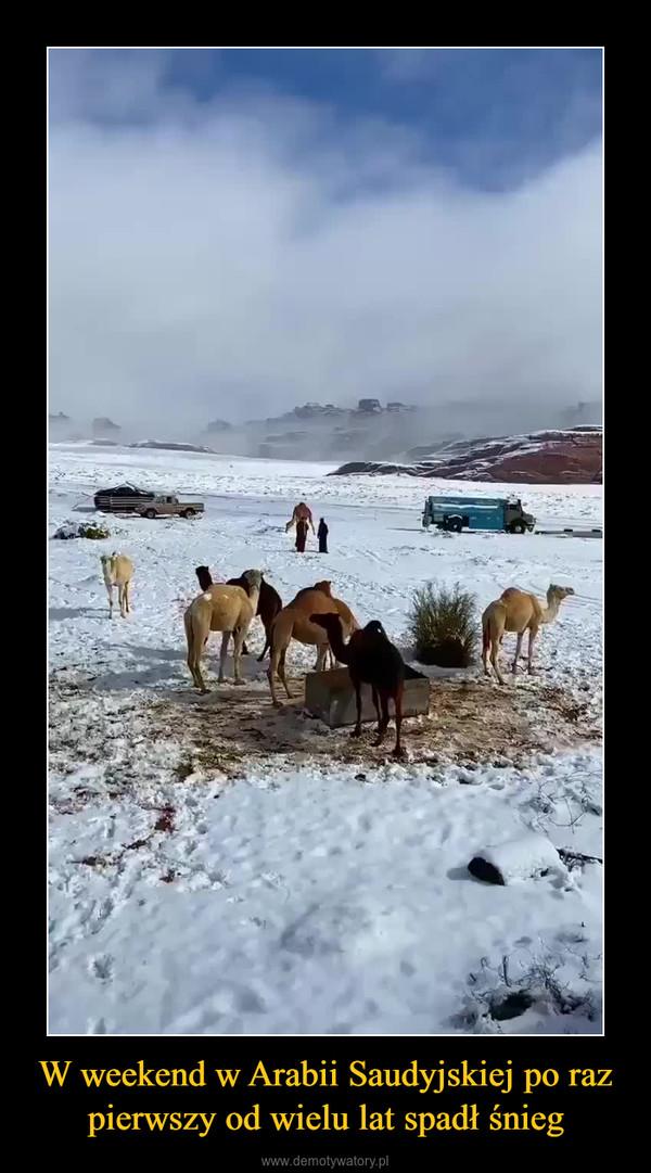 W weekend w Arabii Saudyjskiej po raz pierwszy od wielu lat spadł śnieg –