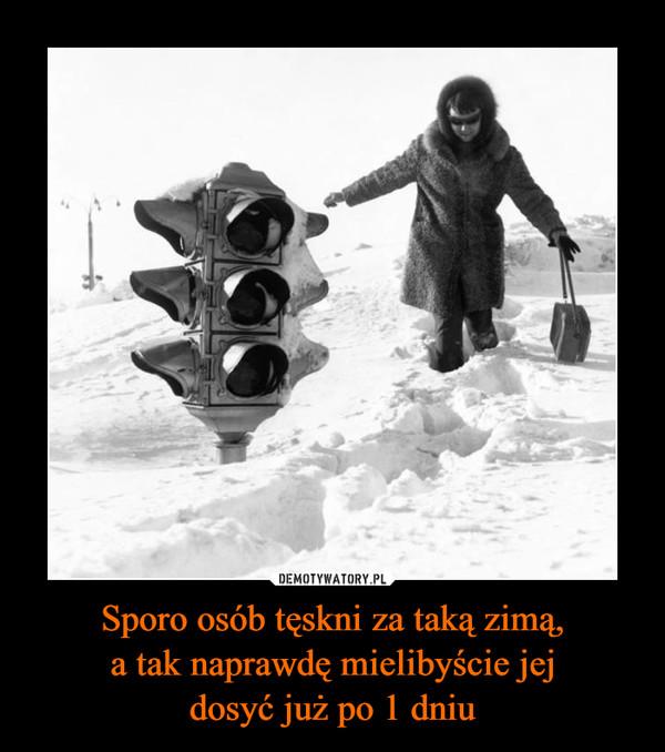 Sporo osób tęskni za taką zimą,a tak naprawdę mielibyście jejdosyć już po 1 dniu –