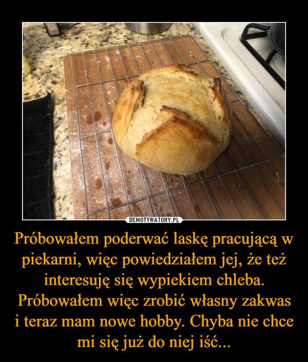 Próbowałem poderwać laskę pracującą w piekarni, więc powiedziałem jej, że też interesuję się wypiekiem chleba. Próbowałem więc zrobić własny zakwas i teraz mam nowe hobby. Chyba nie chce mi się już do niej iść... –