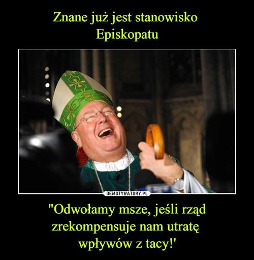 """Znane już jest stanowisko  Episkopatu """"Odwołamy msze, jeśli rząd zrekompensuje nam utratę  wpływów z tacy!'"""