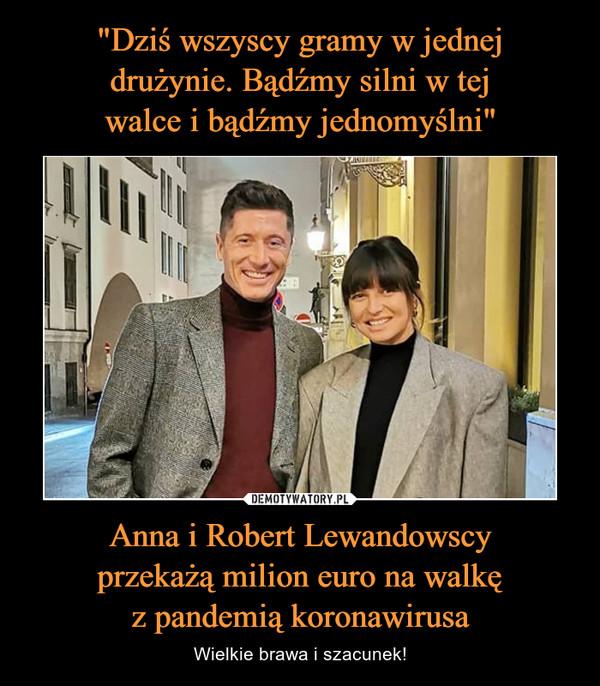 Anna i Robert Lewandowscyprzekażą milion euro na walkęz pandemią koronawirusa – Wielkie brawa i szacunek!