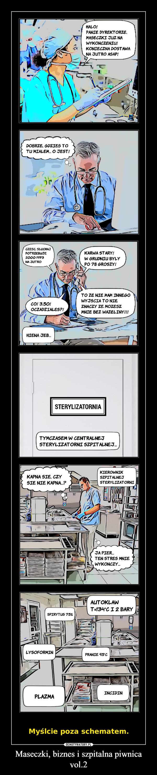 Maseczki, biznes i szpitalna piwnica vol.2 –