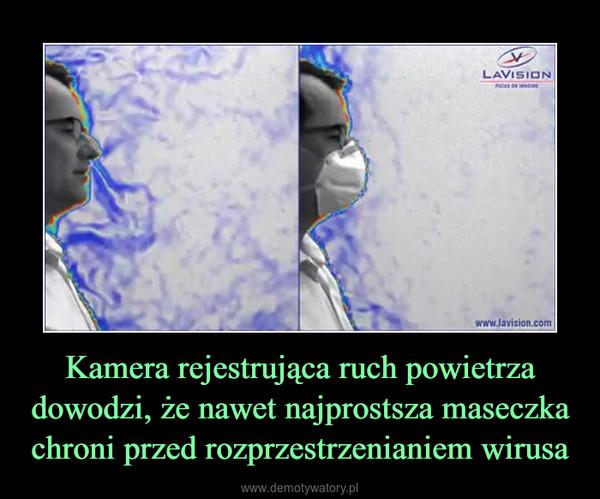 Kamera rejestrująca ruch powietrza dowodzi, że nawet najprostsza maseczka chroni przed rozprzestrzenianiem wirusa –