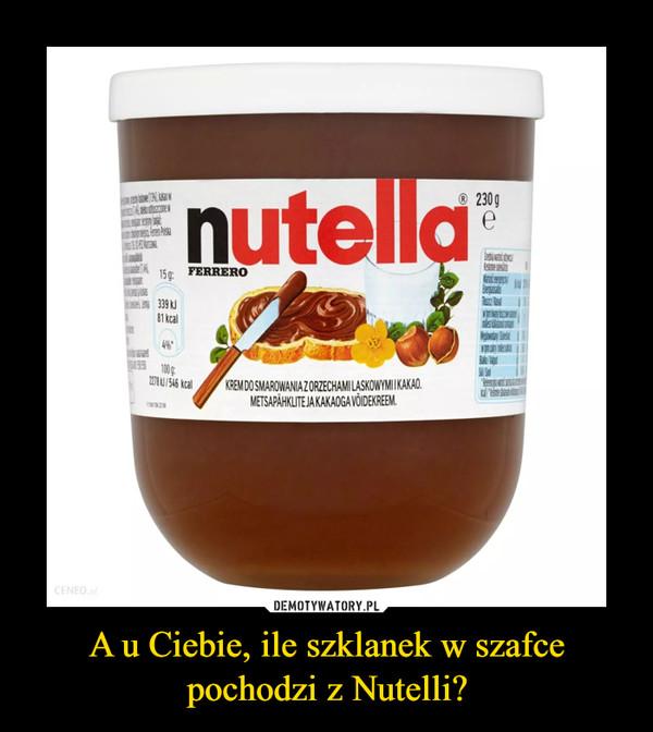 A u Ciebie, ile szklanek w szafce pochodzi z Nutelli? –