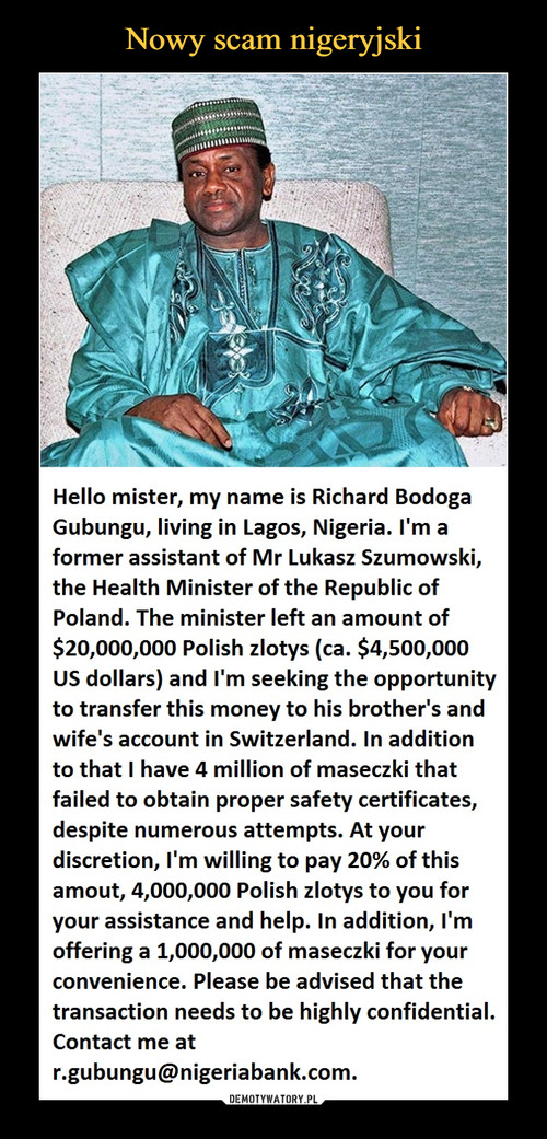 Nowy scam nigeryjski