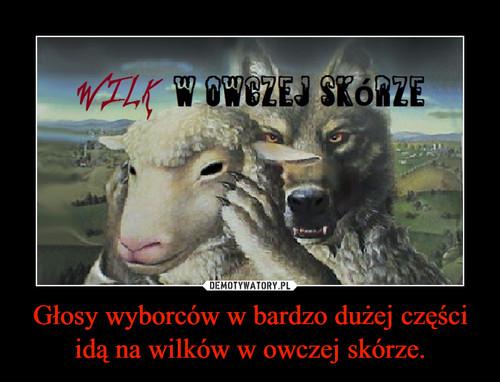 Głosy wyborców w bardzo dużej części idą na wilków w owczej skórze.
