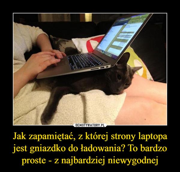 Jak zapamiętać, z której strony laptopa jest gniazdko do ładowania? To bardzo proste - z najbardziej niewygodnej –