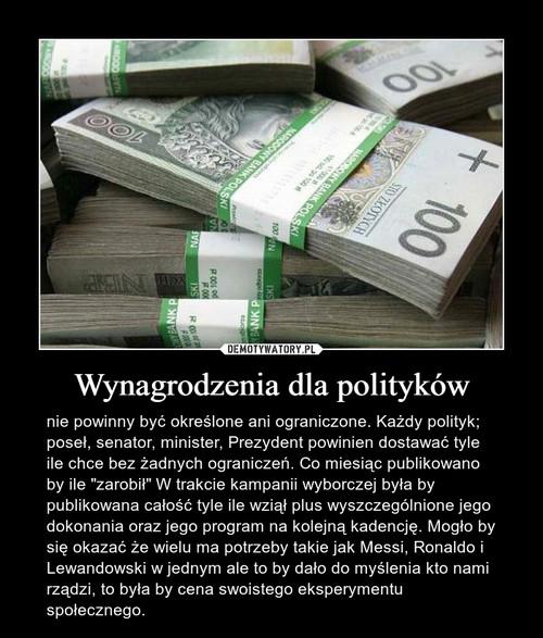 Wynagrodzenia dla polityków