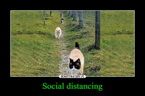 Social distancing –