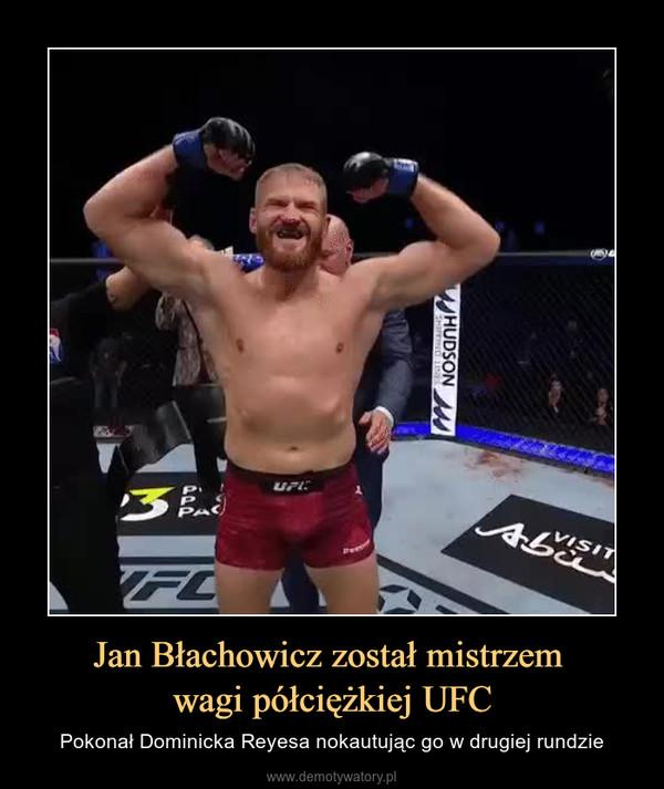 Jan Błachowicz został mistrzem wagi półciężkiej UFC – Pokonał Dominicka Reyesa nokautując go w drugiej rundzie